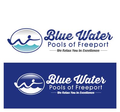 Blue water pools